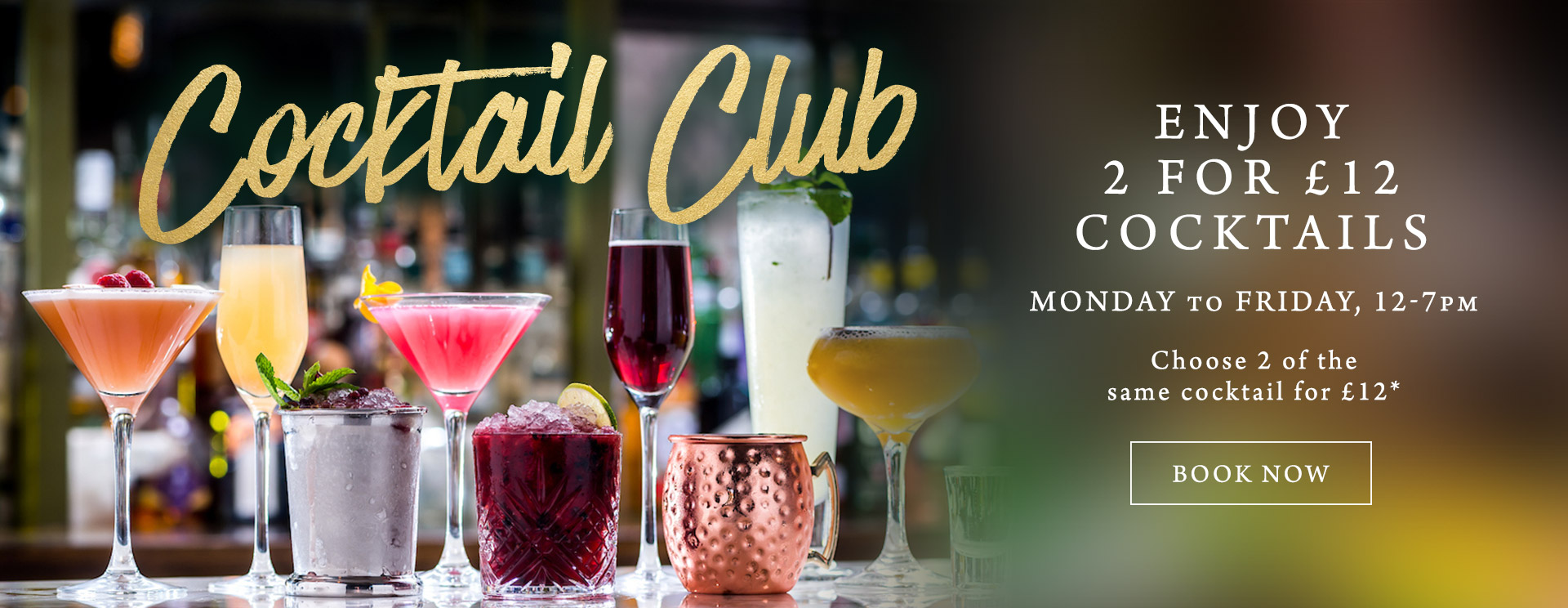 2 for £12 cocktails at The Bathampton Mill